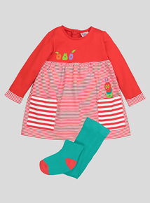 Red 'The Very Hungry Caterpillar' Dress And Tights (0-24 months)