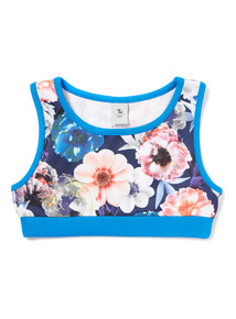 Multicoloured Floral Printed Crop Top (3-14 years)