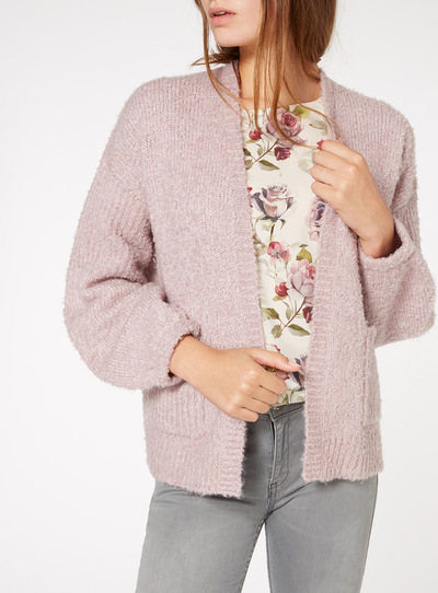 Short Boucle Edge to Edge Cardigan