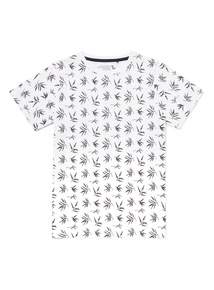 Monochrome Leaf Print T-Shirt (3-14 years)