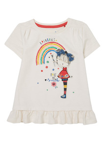 Cream Rainbow Embroidered Top (9 months - 6 years)