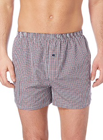 Red Gingham Woven Boxer 3 Pack