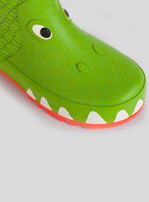 Green Croc Wellies