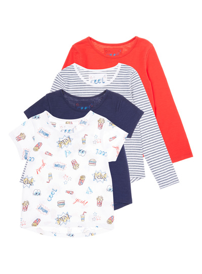Multicoloured Mels Diner Tops 4 Pack (3-12 years)