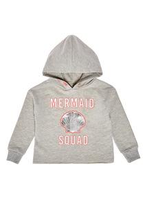Grey Mermaid Squad Hoodie (3 - 12 years)