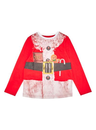 Red Christmas Santa Body Tee (3-14 years)