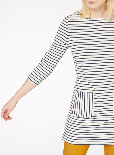 Navy and White Stripe Tunic