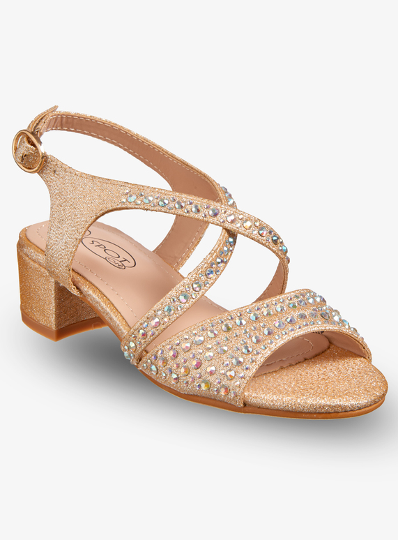 9a7f03797ae Kids Online Exclusive Gold Open Toe Heeled Shoes (10 Infant - 2 Child)
