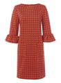 Thumbnail of SKU PRINTED PONTE FLUTED DRESS:Multi Coloured
