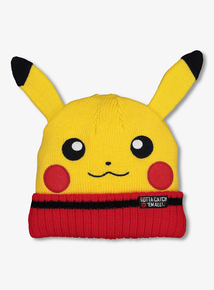 1bfe4288fc5 Yellow Pokemon Knitted Beanie Hat (3-13 years). From £2.40