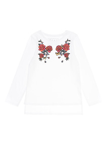 White Rose Embossed Top (3 - 14 years)