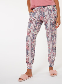 Geometric Print Pyjama Bottoms