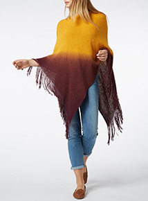 Multicoloured Ombre Poncho