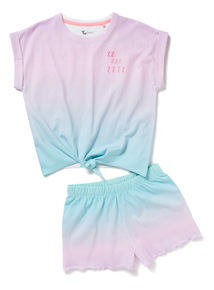 Multicoloured Ombre ZZZ Pyjama Set (4-14 years)