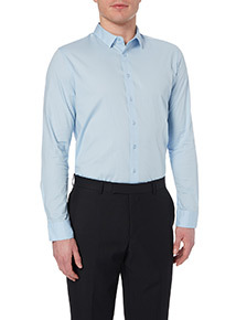 Blue Slim Stretch Shirt
