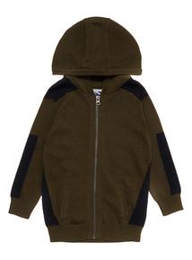 Khaki Zip Through Hoody (3-14 years)