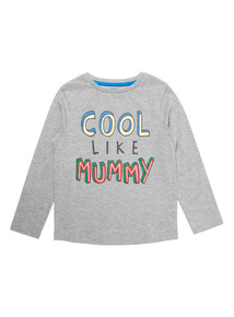 Grey Cool Like Mummy Tee  (9 months-6 years)