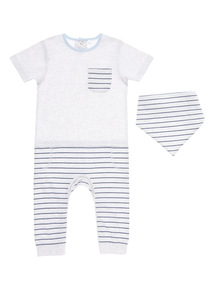 Blue All-In-One With Bib (0-12 month)