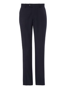 Navy Striped Wool Trousers