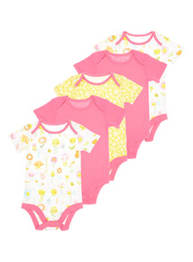 Girls Pink Body Suits 5 Pack (0 - 24 months)