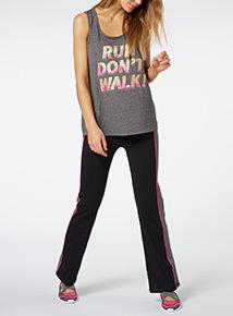 Grey Run Don't Walk Print Vest