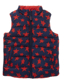 Multicoloured Reversible Gilet (9 months - 6 years)