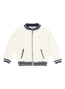 Cream Fleece Bomber Jacket (9 months-6 years)