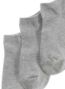 3 Pack Grey Trainer Socks