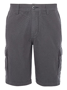 Black Canvas Cargo shorts