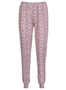 Pink Floral Cuffed Pyjama Bottoms