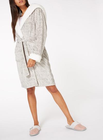 Hooded Fluff Robe