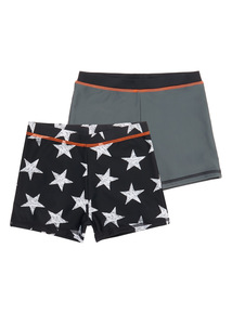 Boys Multicoloured Star Pattern Swim Shorts 2 Pack (1 - 12 years)