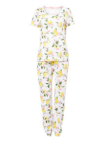 Lemon Print Pyjama Set