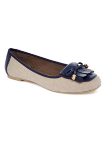 Square Toe Ballerina Pump