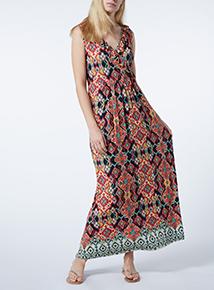 Havana Aztec Print Maxi Dress