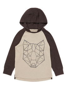 Grey Wolf Print Long Sleeve T-Shirt (9 months-6 years)