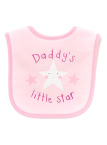 Pink Daddy's Little Star Bib