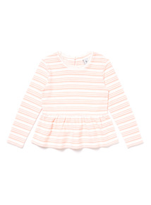 Pink Snit Long Sleeve Top (9 months-6 years)
