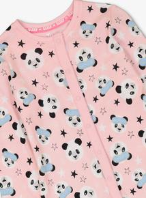 Pink Sleepy Panda All In One (2 - 12 years)