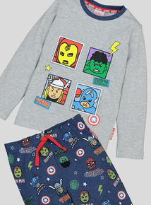 Disney Marvel Avengers 3D Flap Long-Sleeved Pyjamas (18 Months - 8 Years)