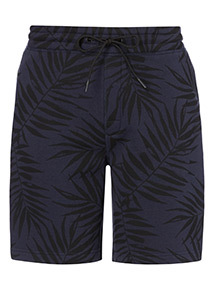 Blue Palm Tree Print Shorts