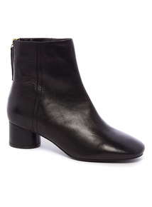 Premium Black Leather Ankle Boots