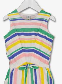 e5ed59f2b067 Multicoloured Stripe Jersey Jumpsuit (9 months - 6 years)