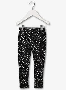 Kids Black & White Spot Leggings (9 months - 5 years)