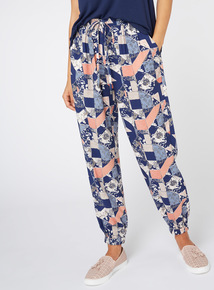 Multicoloured Patchwork Print Harm Trousers