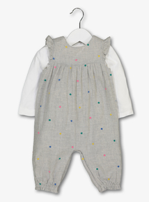Grey Rainbow Romper & Body Set (0 - 24 months)