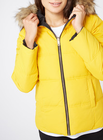 Yellow Padded Reversible Coat