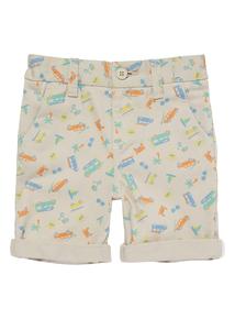 Boys Multicoloured Camper Van Short (9 months - 5 years)