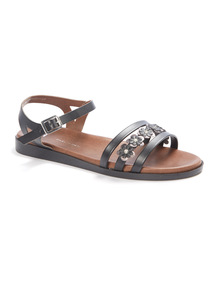 'Made in Italy' Floral Sandals