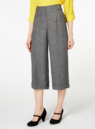 Grey Check Culottes